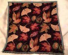 Autumn Bounty Fall Ginkgo Maple Elm Leaves Tapestry Fabric Pillow 2 Panel tops
