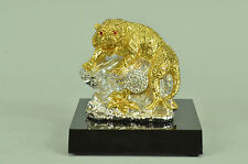 The Intruder Bengal Tiger Sculpture Hot Cast Lost Wax 24K Gold Covered Bronze