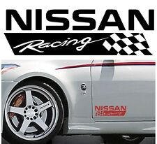 NISSAN RACING CHECKS Body Panel sticker decal - Set of 2 stickers