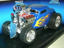 33 FORD COUPE BLUE  WITH FLAMES   MUSC.MACH.MIB1:18