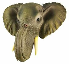 Wild African Elephant Bust Head Wall Hanging Mount Statue Decor New