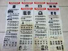 *RARE* (38) ALL *FAMILY MBRS* FBI WANTED REWARD POSTERS 1950's-2000's *PLS OFFER