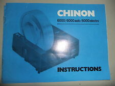 Instructions slide projector CHINON 6000 / 6000 auto - CD/EMail