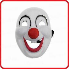 FUNNY HAPPY SMILING FACE RED NOSE CIRCUS CLOWN MASK - FANCY DRESS COSTUME -PARTY