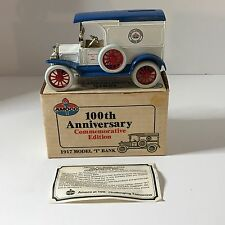 "NEW ERTL Amoco 1917 Model ""T"" Coin Bank 100th Anniversary Edition Die Cast 1989"
