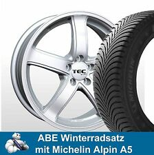 "16"" ABE Winterräder TEC AS1 SL Michelin A5 205/55 für VW Golf V Variant 1KM"
