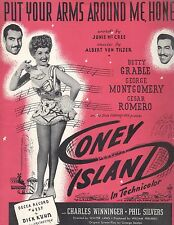 Put Your Arms Around Me Honey Sheet Music Piano Voice Guitar Coney Island Grable