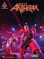 THE BEST OF ANTHRAX-GUITAR-RECORDED VERSIONS W/TAB/VOCAL MUSIC BOOK NEW ON SALE!