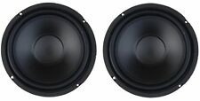 "PAIR of  6.5"" Custom Audio Heavy Duty 50W RMS 4 ohm Woofer Speaker Subwoofer"