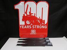 """OEM Genuine Gravely Ariens Set of 3 Lawnmower Blades 03253900 60"""""""