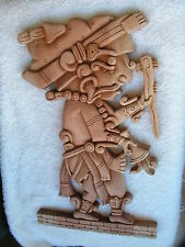 MAYAN WARRIOR  WOOD CARVED NEW.