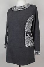NEW WOMEN TUNIC  size  16/18  TOP  LONG SLEEVE  BLOUSE  LADIES   6219