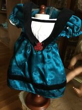 American Girl Doll Cecile Teal Meet Dress Retired New