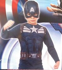 Marvel Captain America The Winter Soldier Boy's Halloween Full Costume Size 8-10