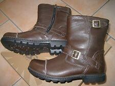 (Y37) Coole UGG Australia Boys Schuhe Glattleder Biker Boots Leder Stiefel gr.36
