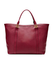 NWT Gucci Miss GG Large Leather Tote Handbag, Dark Red