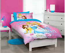 SINGLE BED DISNEY PRINCESS CINDERELLA GIRLS QUILT DOONA COVER SET & PILLOWCASE!