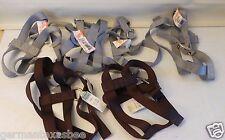 "Lot of 7 large 28"" dog harnesses adjustable grey brown Mustang Whitco Safari"