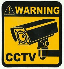 AUTOCOLLANT STICKER WARNING ATTENTION CAMERA DIMENSIONS 11 X 10 CM