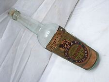 Early Booth's Old Tom Superior Gin Liquor Bottle w/Paper Label