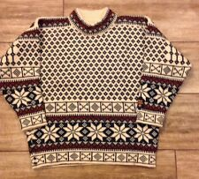 DALE OF NORWAY Mens CLassic Wool Winter Ski Sweater Pullover- Small