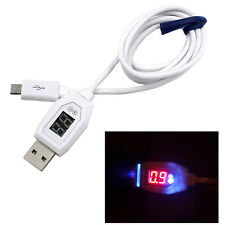 Digital LCD Display Micro USB Data Charging Voltage Kable Cord For Android Phone