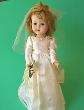 WEDDING DOLL WALKING SLEEPY EYE OPEN MOUTH TEETH