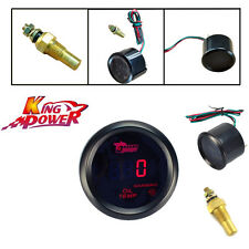 "NEW Universal 2"" 52mm Red LED Digital Oil Temperature Temp Gauge For Car Motor"