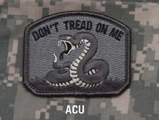 DON'T TREAD ON ME - ACU - TACTICAL COMBAT OIF BADGE MORALE VELCRO MILITARY PATCH