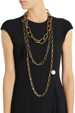 Lanvin Susan gold-tone, Swarovski crystal and faux pearl necklace