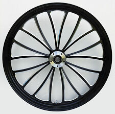 "MANHATTAN FRONT BLACK WHEEL 21"" HARLEY ROAD KING FLHR FLHRS ROAD GLIDE FLTR"