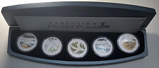 2005 Tuvalu Evolution of the Fighter Plane 5* 1oz $1 Colored Coins 1,500 Sets