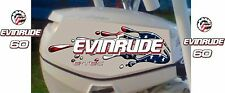 Evinrude Twin 40,50,60 And 90hp E-Tec USA Flag Splash Decal Kit