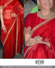 Bollywood  Designer Party Wear Red  Color Beautiful  Saree