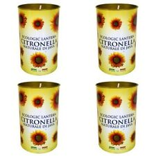 4 x Prices Ecologic Citronella Candle Lantern Fragranced Garden Summer Citrus