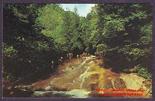 Postcard SLIDING ROCK LOOKING GLASS CREEK  Pisgah Nat'l Forest NC Appalachain Mt