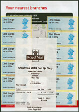 MA12 2nd/2nd LARGE STRIPS/6 A4 WESTFIELD XMAS 2013 POP UP SHOP + FLYER POST & GO