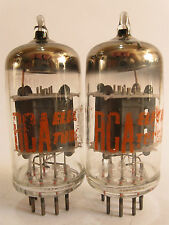2 matched 1960's RCA 12AX7A (ECC83) tubes - Hickok TV-7B tested @ 51/51, 50/54