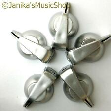 5 Silver chicken head knobs smooth/splined/D shaft potentiometer knob pot switch