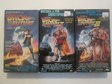 Back To The  Future Trilogy 1 2 3 I II III Set Of All Three ON VHS
