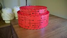 Mid Century Vintage Style 2 Tier Fiberglass Lamp Shade Modern Retro Red Atomic