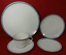 ROSENTHAL china CORONA BLUE 5-piece Place Setting cup saucer dinner salad bread