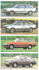 1984 Ford ESCORT Dealer Brochure with Color Chart: GT, TURBO, LX, GL, L, Wagon,