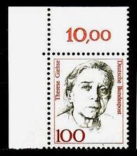 BUND Frauen  100 Pf. **, Mi. 1390, Eckrand o.l.