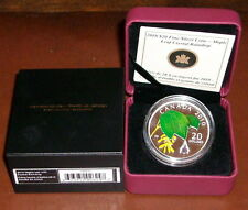 2010 Canada $20 Crystal Raindrop PROOF BOX+COA