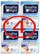 120 BREATHE RIGHT NASAL STRIPS - LARGE - CLEAR (4 box of 30 Ct/each)