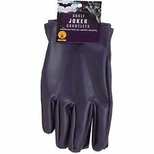JOKER Men's Adult Size Purple Gloves Batman Dark Knight Costume Accessory