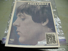 BEATLES  SHEET  MUSIC  YESTERDAY  1965 CHARLES  HANSEN w/ PIANO &  ORGAN NM