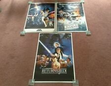 Star Wars Trilogy Large Poster Set. A New Hope, Empires Strikes Back, Jedi. NEW