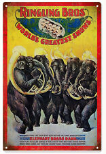 Ringling Bros Elephant Brass Band Circus Sign